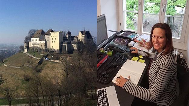 Arbeiten hoch über Lenzburg: Martina Heeb erzählt