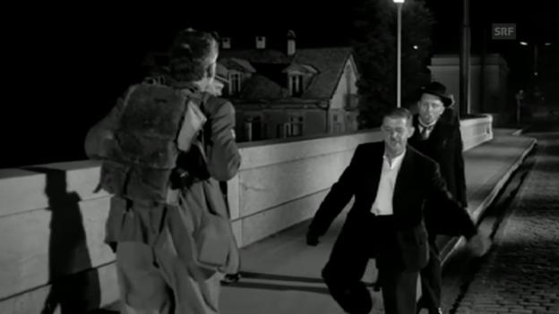 Video «Dällebach Kari, Filmausschnitt (Schwarzi Müüs und Nähmaschine)» abspielen
