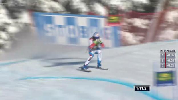 Video «Ski: Super-G Lake Louise, Fahrt von Défago» abspielen