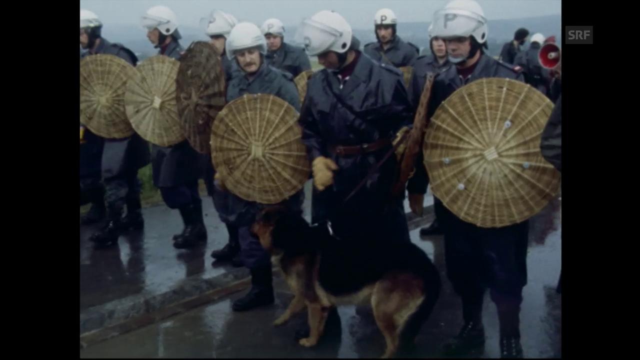 Vor 40 Jahren: Protest gegen AKW Gösgen