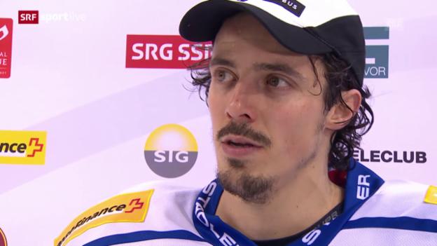 Video «Eishockey: Playoffs, 4. Halbfinal, HC Davos – SC Bern, Interview Roman Wick» abspielen