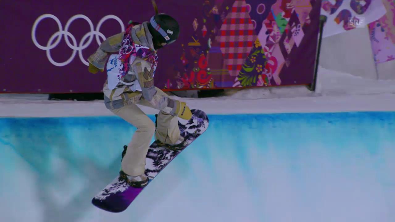 Snowboard Halfpipe: Der Gold-Run von Katilyn Farrington (sotschi direkt, 12.02.2014)