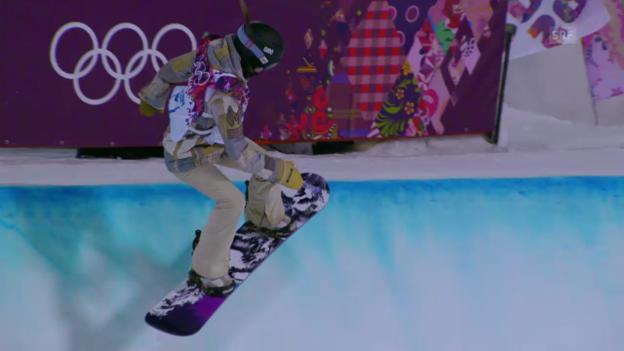 Video «Snowboard Halfpipe: Der Gold-Run von Katilyn Farrington (sotschi direkt, 12.02.2014)» abspielen