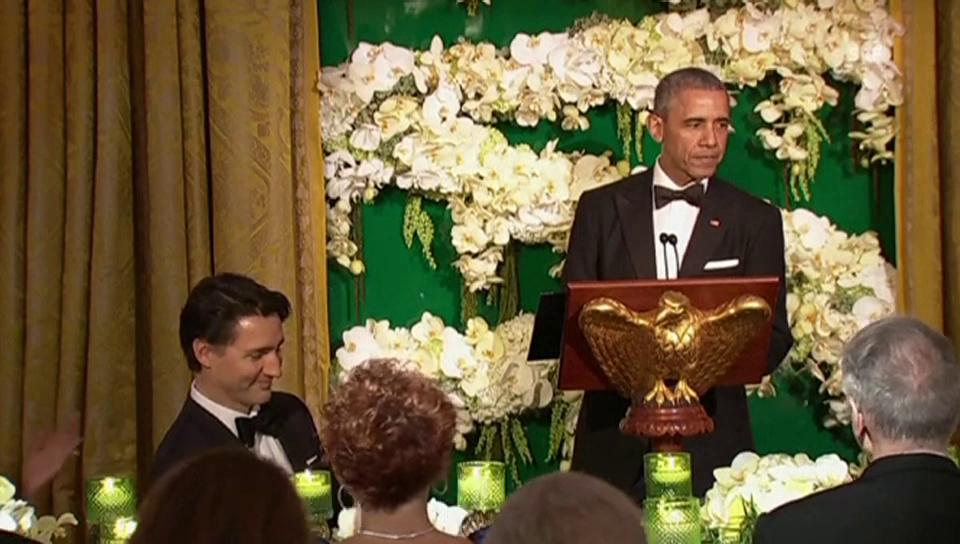 Barack Obama und Justin Trudeau veräppeln Justin Bieber