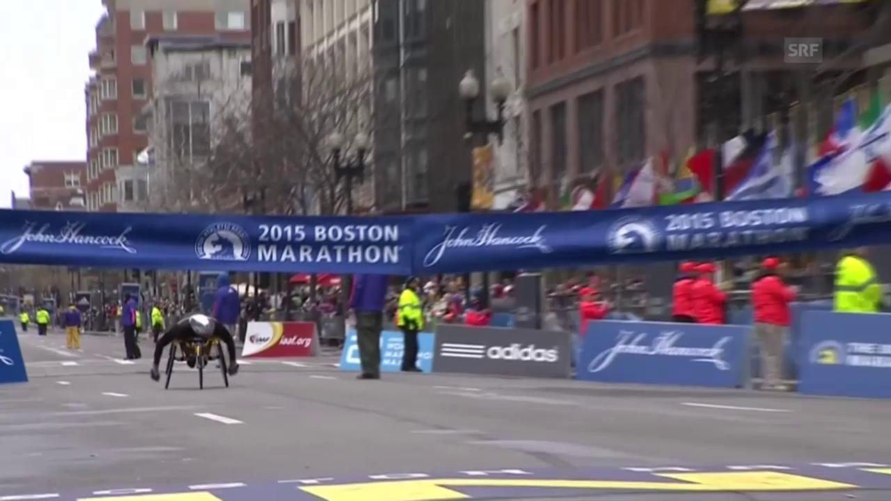 Behindertensport: Marcel Hug gewinnt Boston Marathon