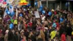 Video «Demo gegen Schliessung der Geburtenabteilung» abspielen