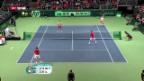 Video «Davis Cup: Schweiz verliert historisches Doppel gegen Tschechien» abspielen