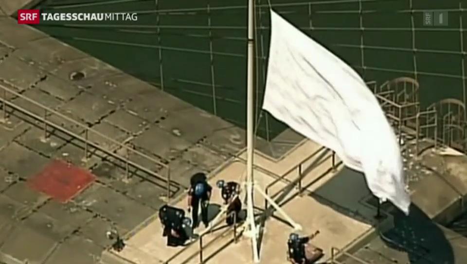 Weisse Flaggen über New York