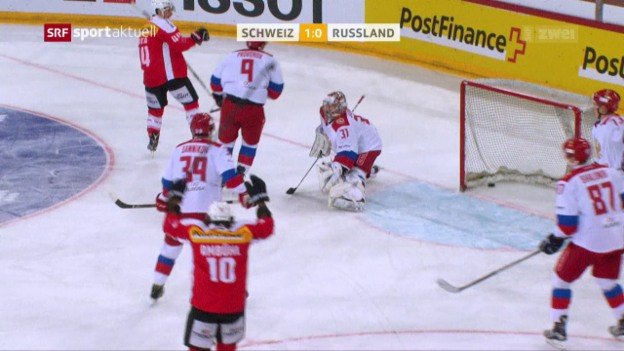 Video «Hockey-Nati schlägt Russland auch ein 2. Mal» abspielen