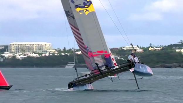 Video «Foiling: So fliegen die Boote am America's Cup» abspielen