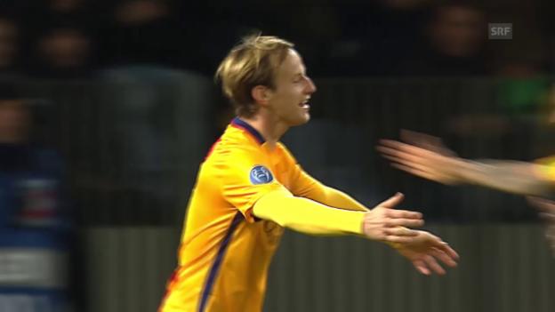 Video «Fussball: CL, Tor Rakitic BATE - Barcelona» abspielen