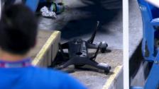 Video «Tennis: US Open, Drohne im Stadion» abspielen