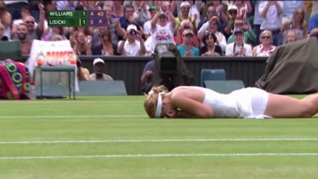 Video «Tennis: Williams-Lisicki (Satz- und Matchbälle)» abspielen