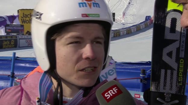 Video «Ski alpin: Weltcup der Frauen, Abfahrt in St. Moritz, Edit Miklos im Interview» abspielen