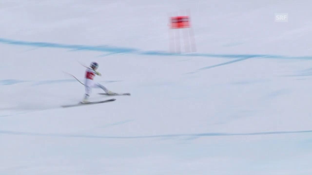 Ski: Abfahrt Frauen Lake Louise, Verschneider Lindsey Vonn