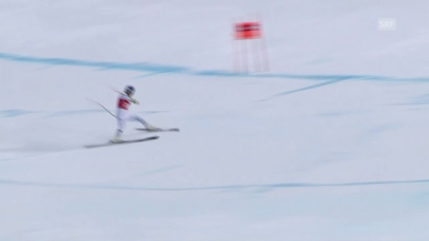 Video «Ski: Abfahrt Frauen Lake Louise, Verschneider Lindsey Vonn» abspielen