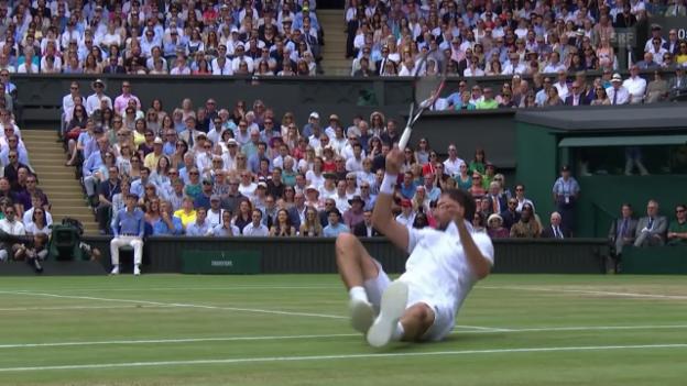 Video «Cilic im Wimbledon-Final durch Verletzung handicapiert» abspielen