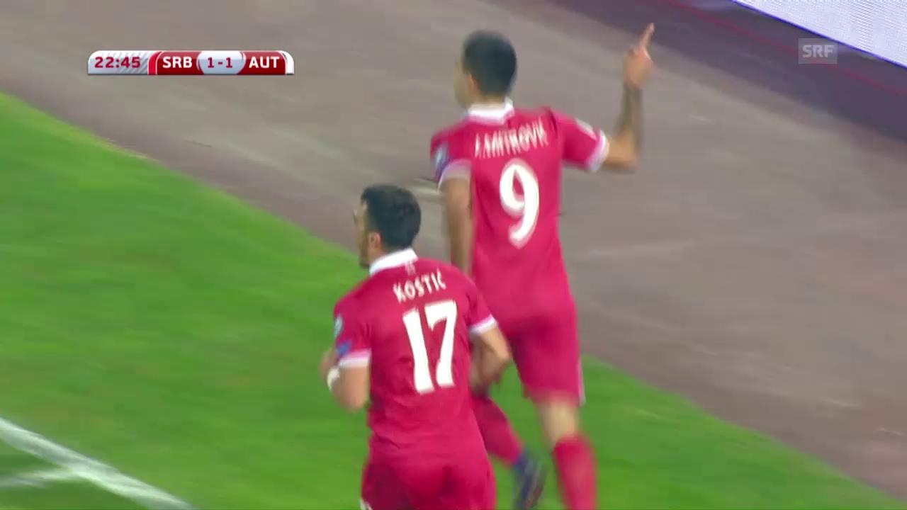 Österreich-Niederlage in Serbien
