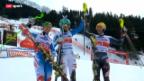 Video «Ski: Slalom Männer auf der Lenzerheide» abspielen