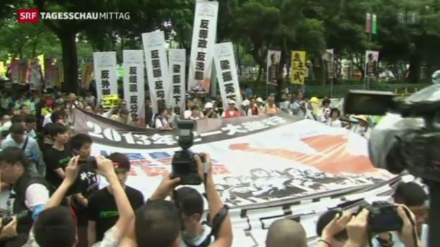 Video «Proteste in Hongkong» abspielen