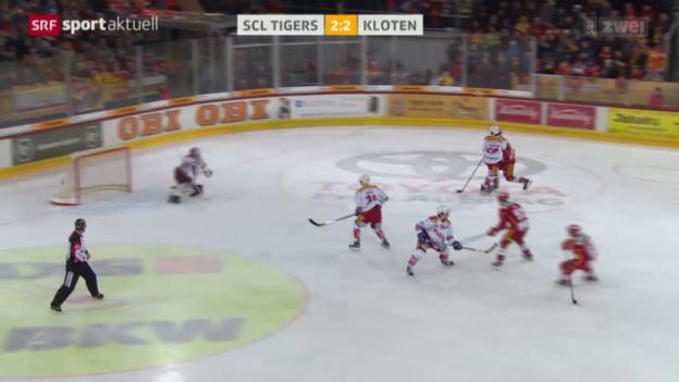 Video «SCL Tigers besiegen auch Kloten» abspielen
