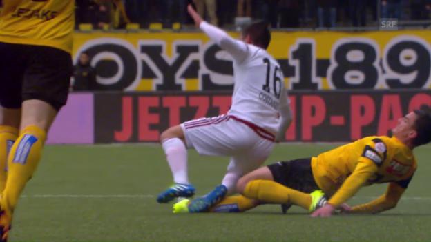 Video «Alain Rochat verletzt sich gegen Vaduz» abspielen
