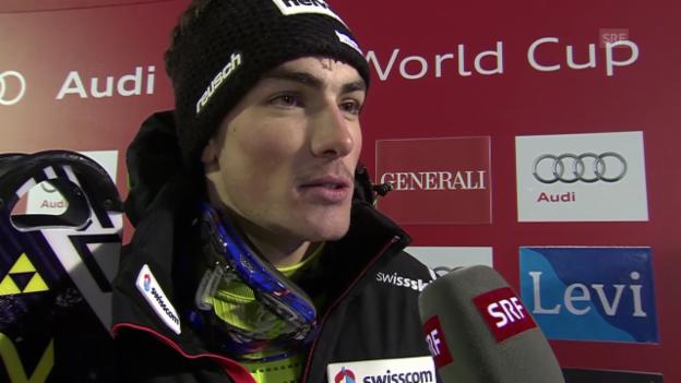 Video «Ski: Daniel Yule nach dem Slalom in Levi im Interview» abspielen