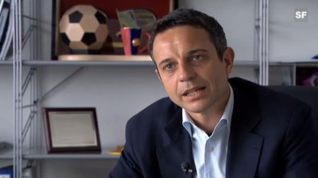 Video «FCB-Präsident Bernhard Heusler über die stillen Reserven des FCB» abspielen