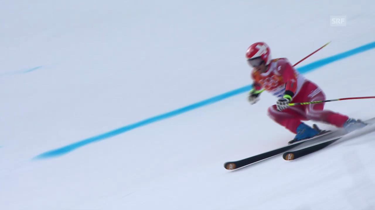 Ski: Riesenslalom Männer Sotschi, 1. Lauf von Didier Défago (sotschi direkt, 19.2.14)