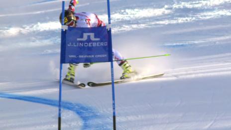 Video «Ski-WM Vail/Beaver Creek, RS Frauen, 2. Lauf Fenninger» abspielen