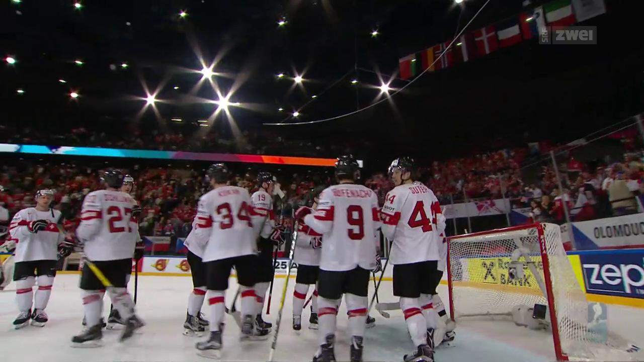Schweiz feiert Sieg gegen Tschechien