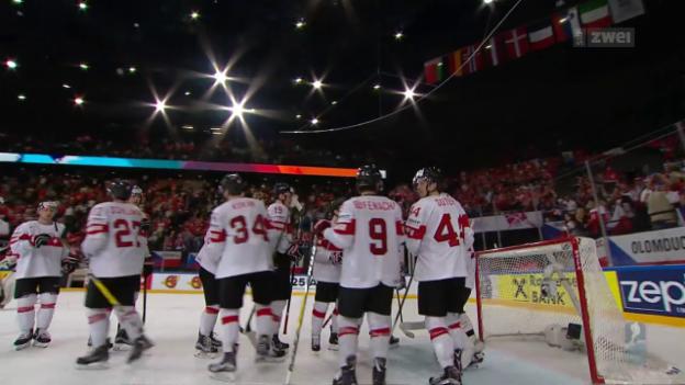 Video «Schweiz feiert Sieg gegen Tschechien» abspielen