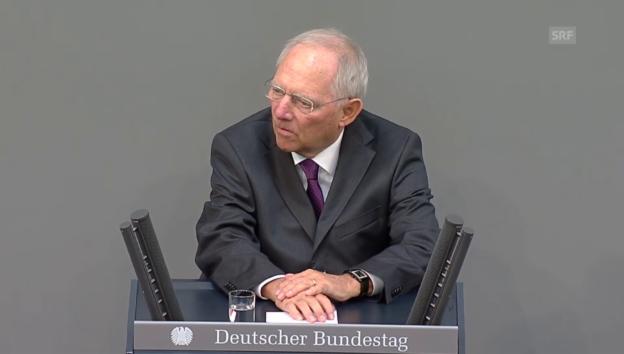 Video «Schäuble: «Alle sind sich einig, dass man Griechenland helfen muss»» abspielen