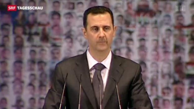 Video «Assad spricht vor Anhängern in Damaskus.» abspielen
