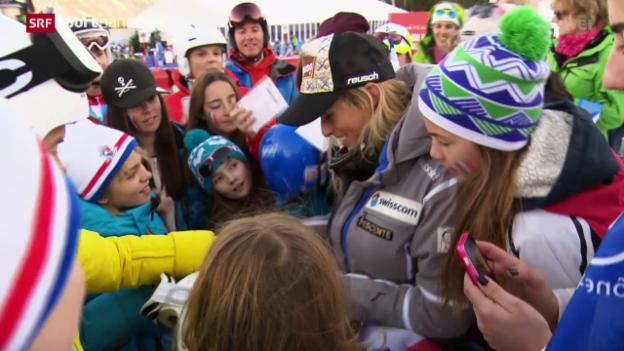 Video «Ski: Lara Gut Leaderin im Gesamtweltcup» abspielen