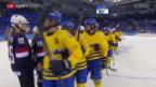 Video «Eishockey: Halbfinal-Partie USA - Schweden» abspielen