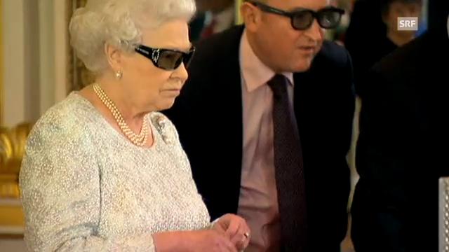 Queen Elisabeth bei ihrer 3D-Ansprache (unkomm. Video)