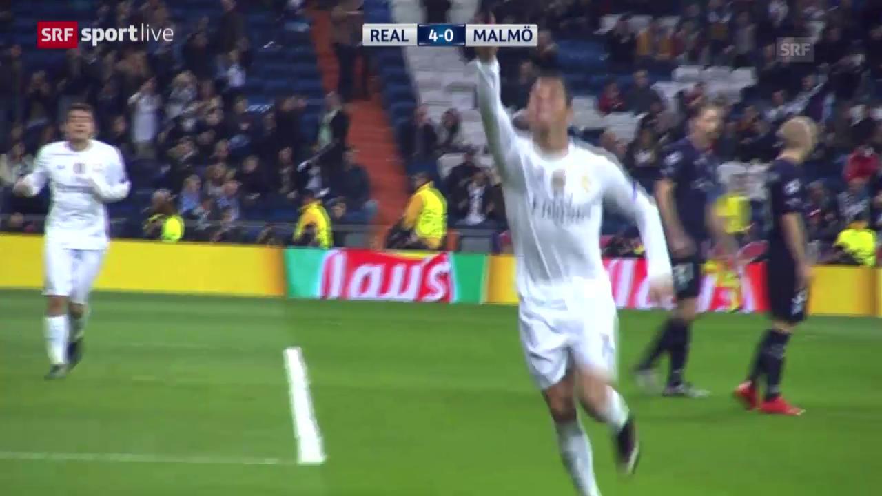 Fussball: Champions League, Zusammenfassung Real Madrid-Malmö