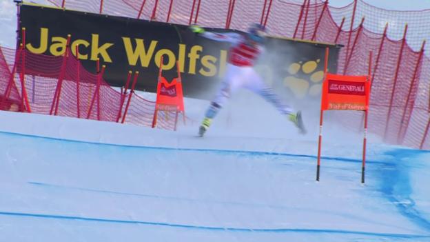 Video «Ski Alpin, Weltcup Frauen, Abfahrt Val d'Isère, Out Vonn» abspielen
