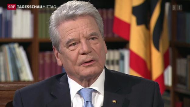 Video «Interview mit Bundespräsident Gauck» abspielen