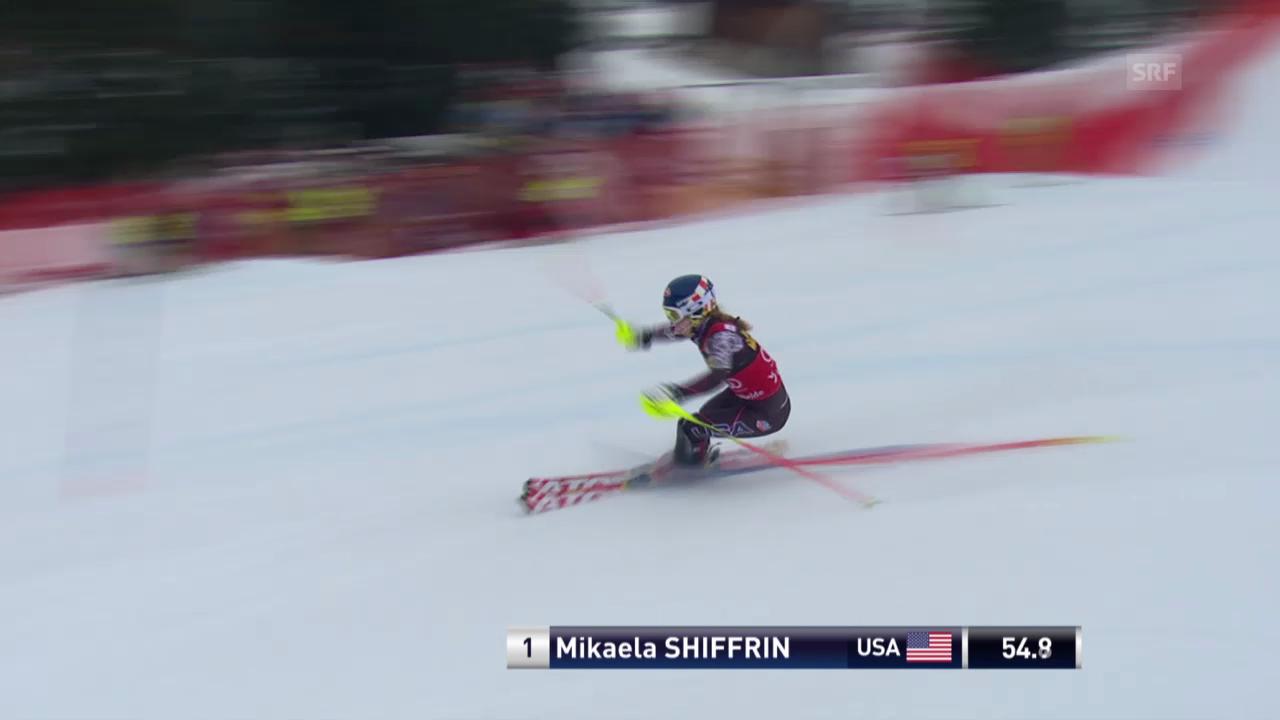 Ski Alpin: Slalom Lenzerheide, 1. Lauf Shiffrin («sportlive», 15.03.2014)