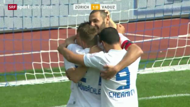 Video «Fussball: Super League, Zürich - Vaduz» abspielen