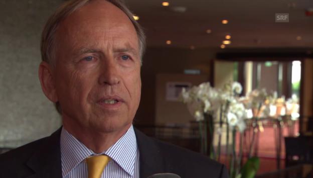 Video «Botschafter Otto Lampe zum Rückgang» abspielen