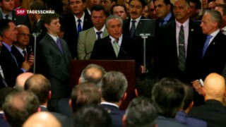 Video «Michel Temer präsentiert neues Kabinett» abspielen