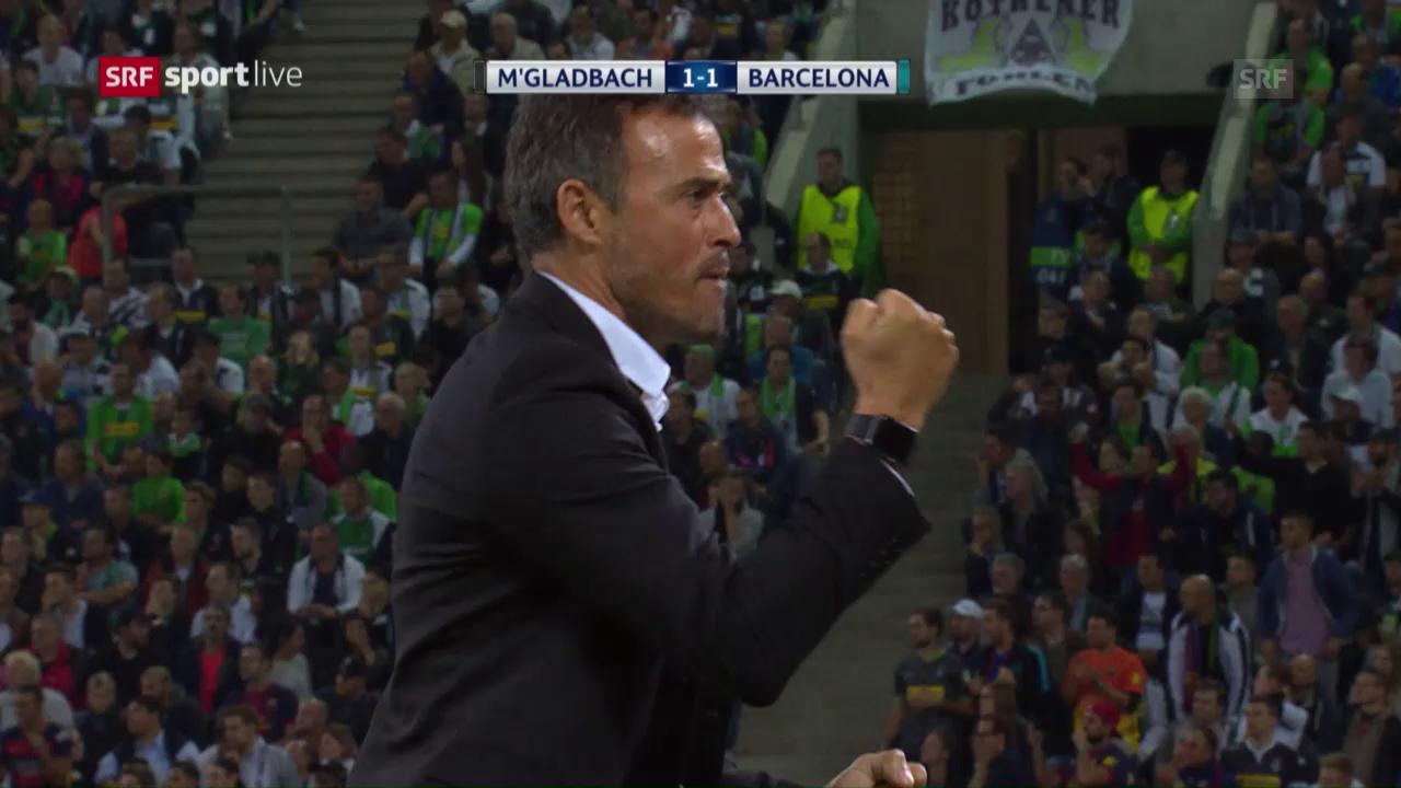 Barcelona hat es gegen Gladbach unerwartet schwer