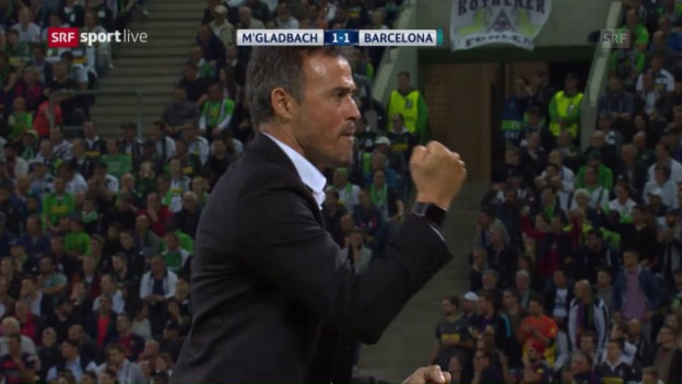 Video «Barcelona hat es gegen Gladbach unerwartet schwer» abspielen