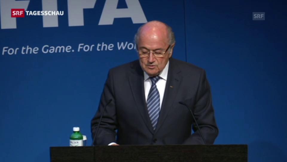 Blatter gibt sein Amt ab