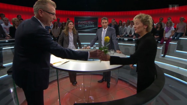 Video «Abstimmungs-Arena: Familieninitiative» abspielen