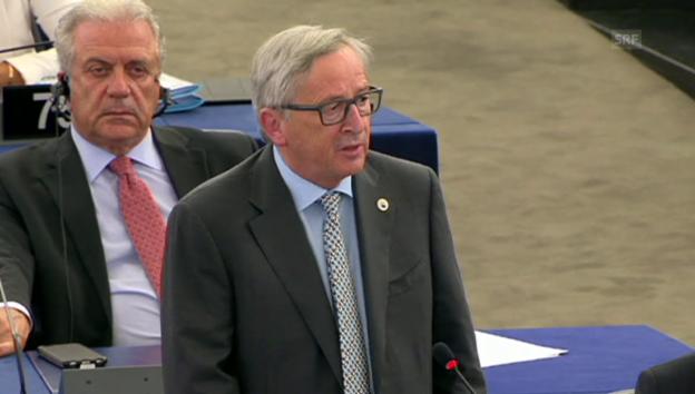 Video «Juncker: «Es war ein Fehler, den Verhandlungstisch zu verlassen.»» abspielen