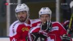 Video «Eishockey: Testspiel Schweiz - Dänemark» abspielen